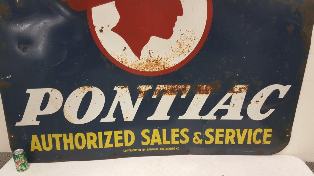 Pontiac Authorized Sales & Service Dealership Sign - 3