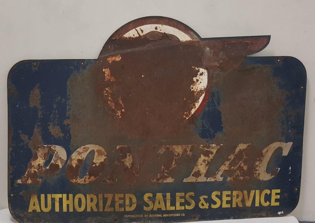 Pontiac Authorized Sales & Service Dealership Sign - 5