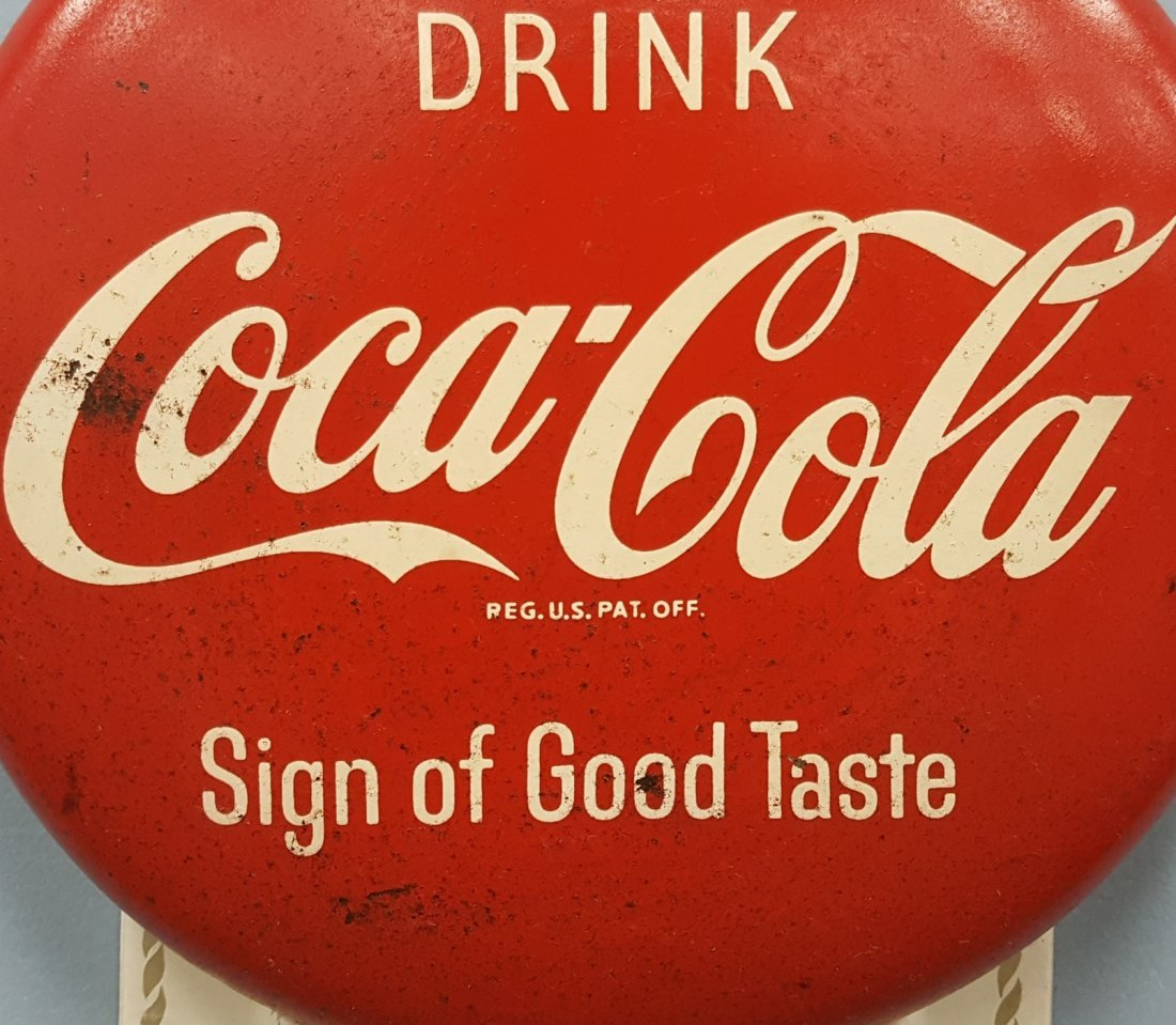 1959 Drink Coca Cola Button Calendar - 2