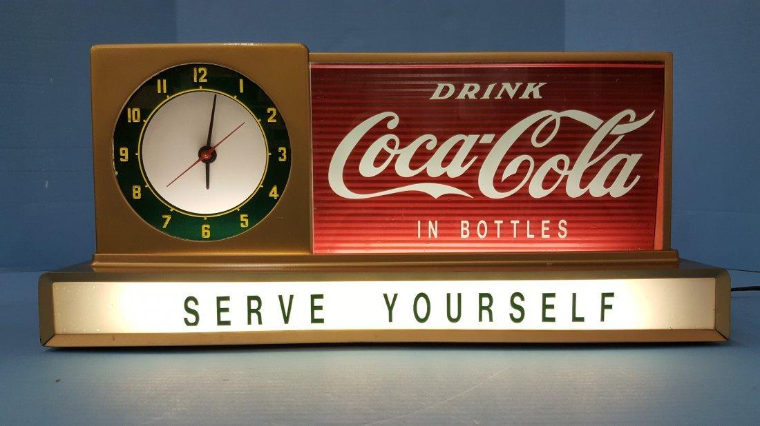 Drink Coca Cola Countertop Light up Clock