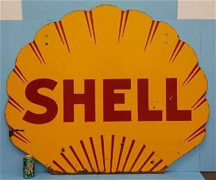 Porcelain Shell Service Station sign
