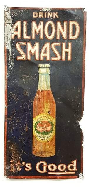 Drink Almond Smash Tin Sign