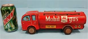 Mobilgas tin toy delivery truck