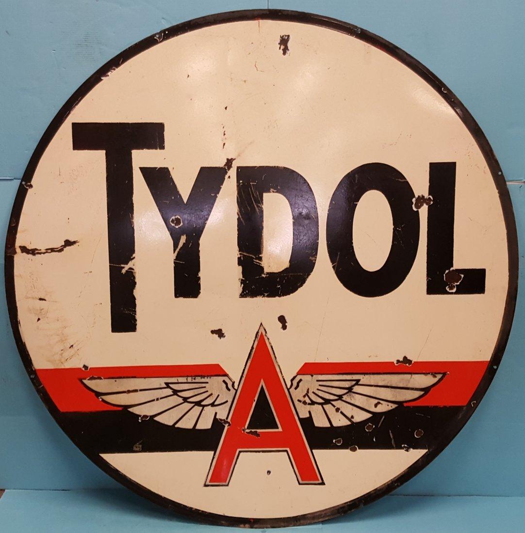 6ft Porcelain Double sided Tydol  Dealership Sign