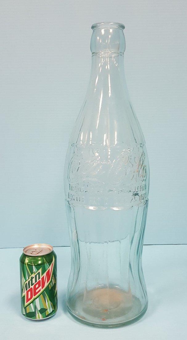 Coca Cola Glass Christmas Display Bottle Dec. 25th 1923