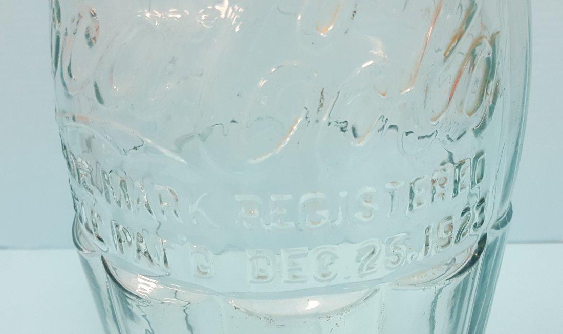 Coca Cola Glass Christmas Display Bottle Dec. 25th 1923 - 2