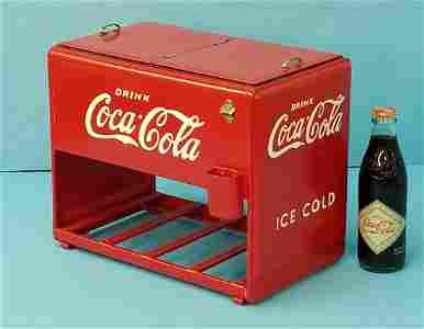1939 Coca Cola Salesman Sample Cooler w/Booklets