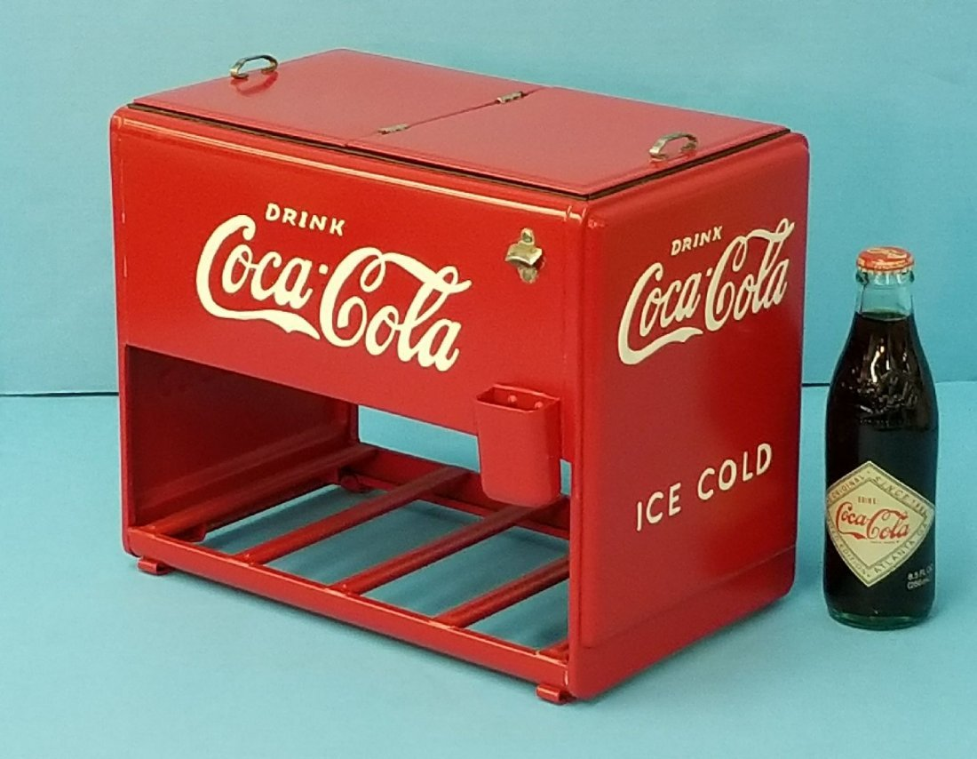 1939 Coca Cola Salesman Sample Cooler w/Booklets