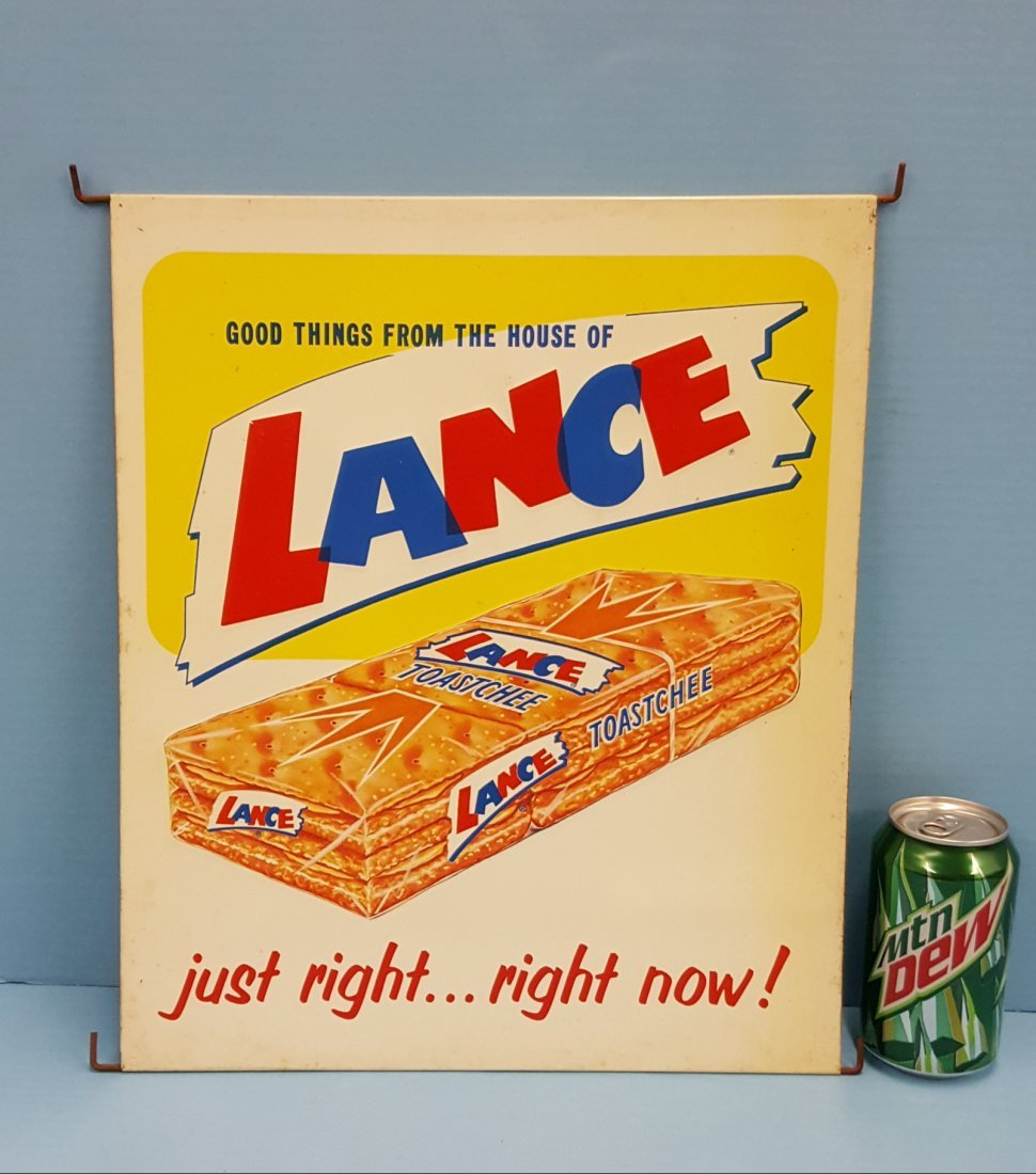 Lance Crackers Store Rack Display Sign