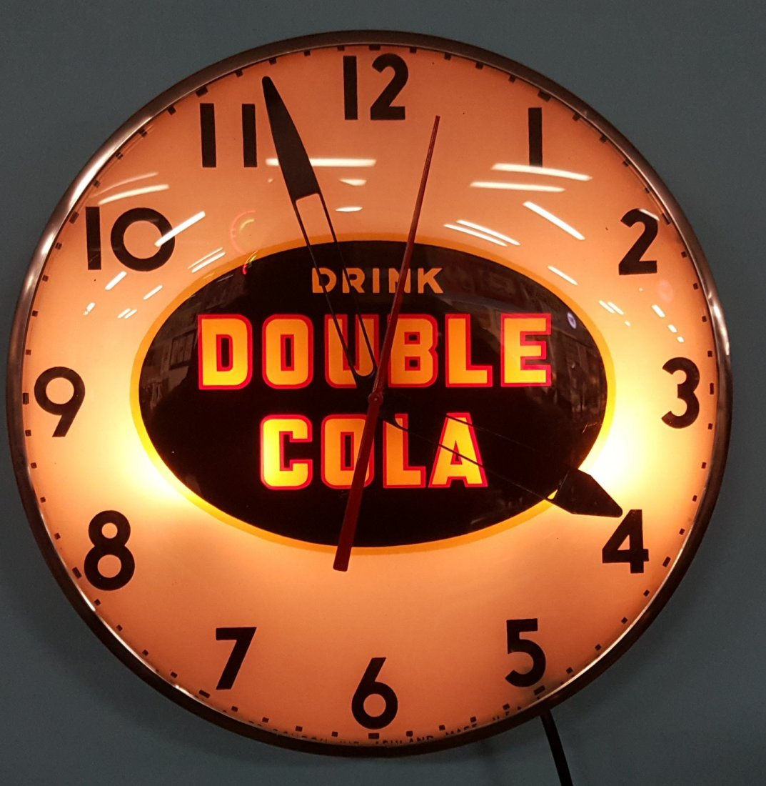 Double Cola Telechron Light Up Clock