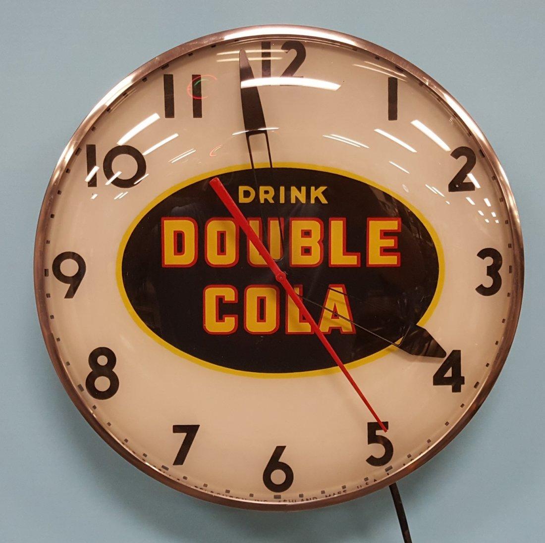 Double Cola Telechron Light Up Clock - 2