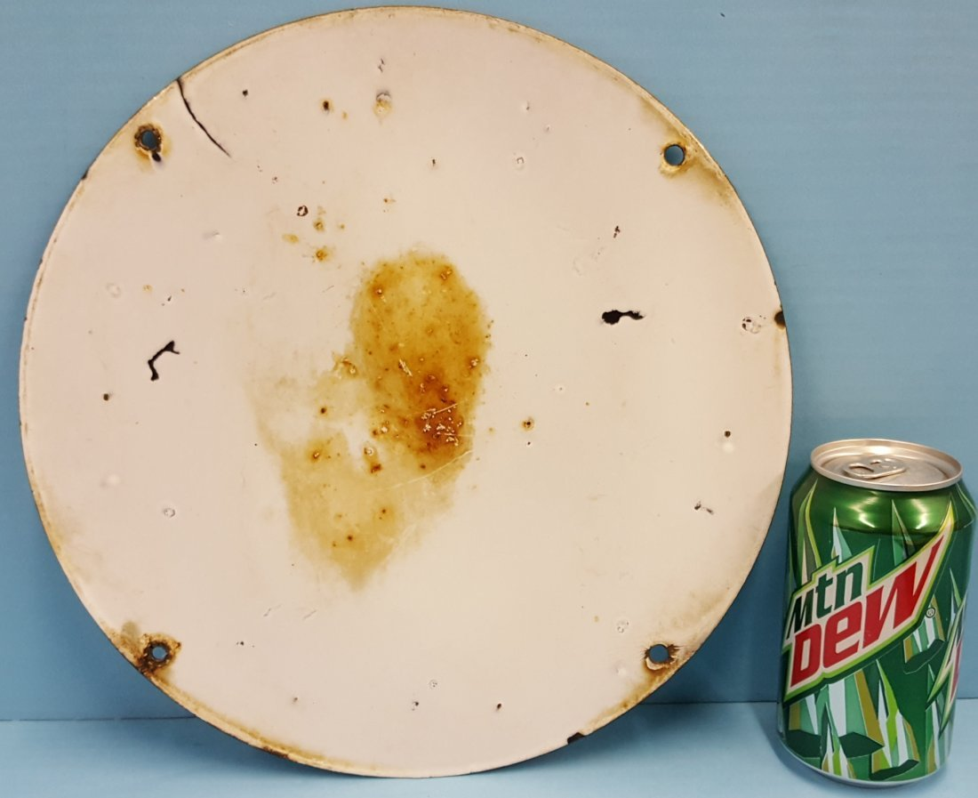 Porcelain CONOCO Gas Pump Plate Burdick Chicago - 2