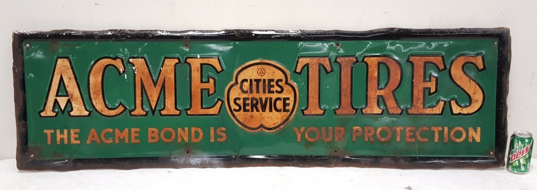 Acme Tires Cities Service Sign
