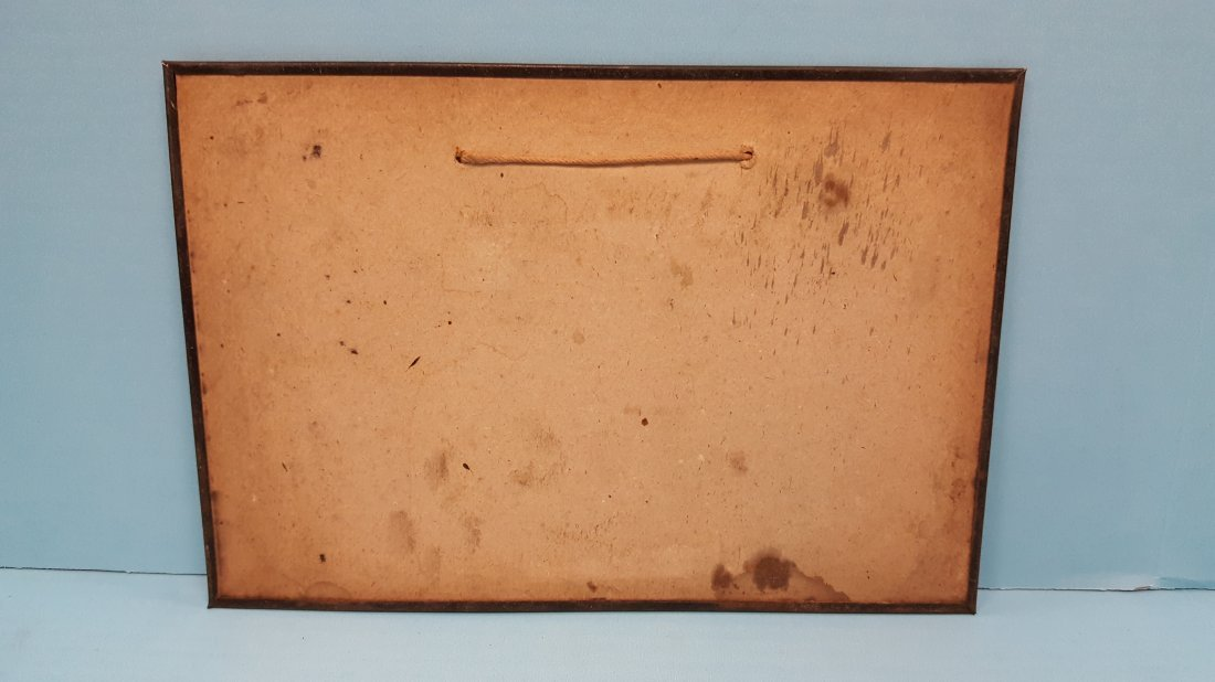 RARE 1915 Orange Drip Tin Sign - 2