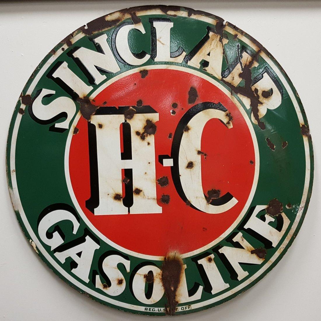 Porcelain Sinclair H-C Gasoline Sign
