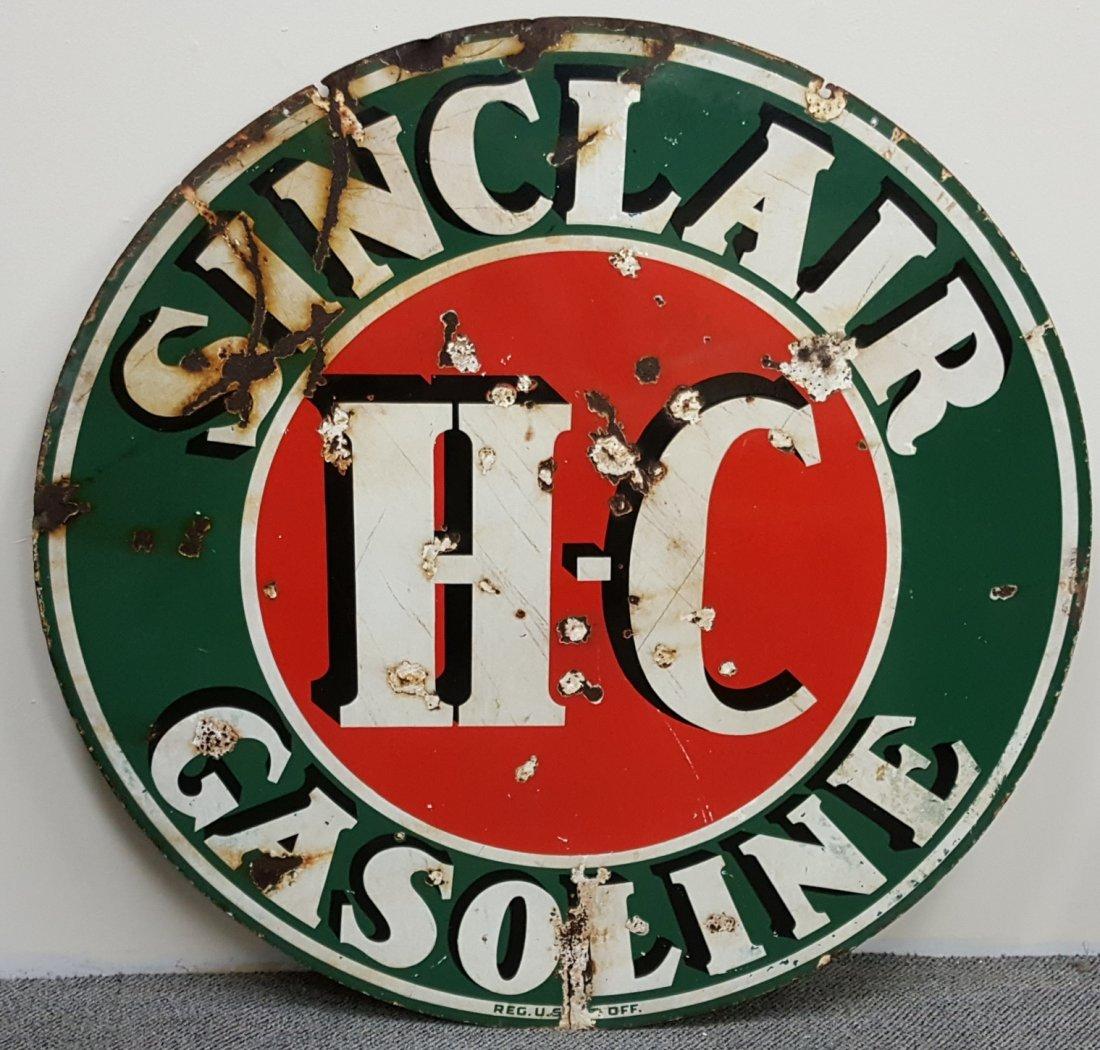 Porcelain Sinclair H-C Gasoline Sign - 2