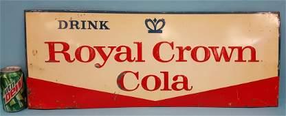 Embossed Drink Royal Crown Cola sign