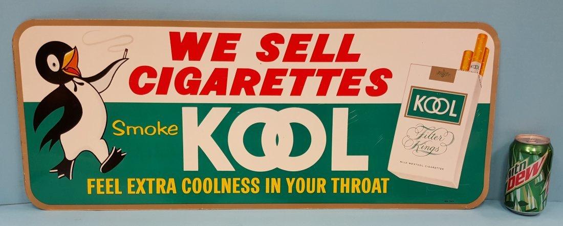 1950 Smoke Kool Cigarettes Tin Sign
