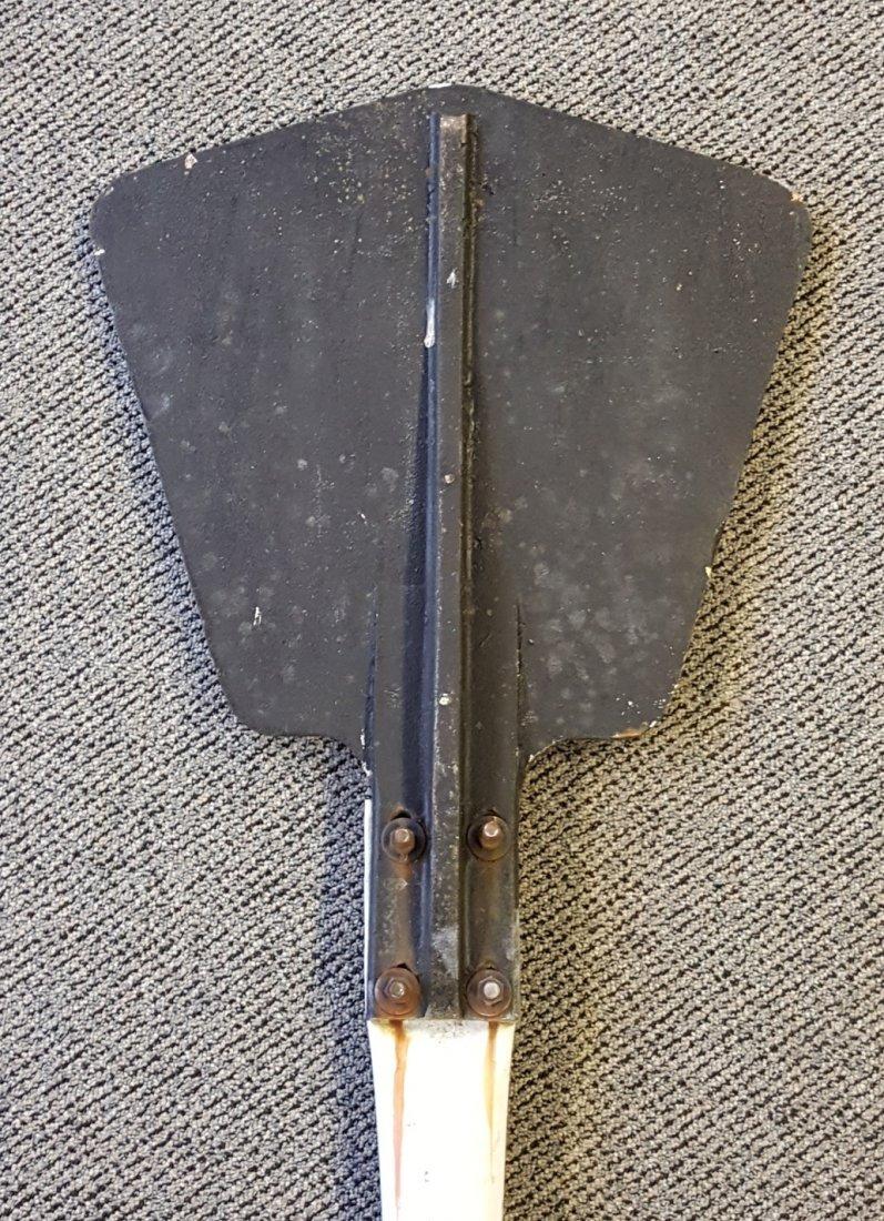 Cast Iron Railroad Whistle Sign w Pole - 2