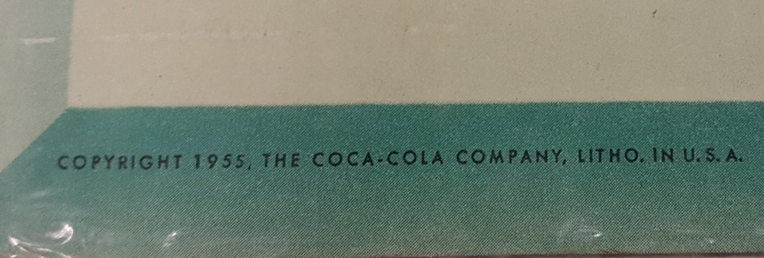 1955 Coca Cola cardboard Vertical Sign Have a Coke - 3