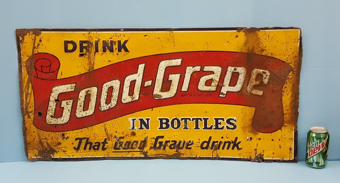 Good Grape Embossed Tin Sign