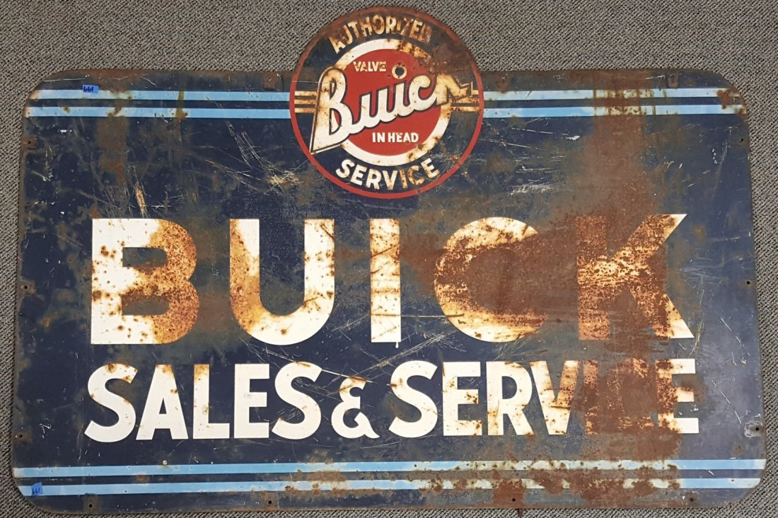 Buick Sales and Service Dealership Sign