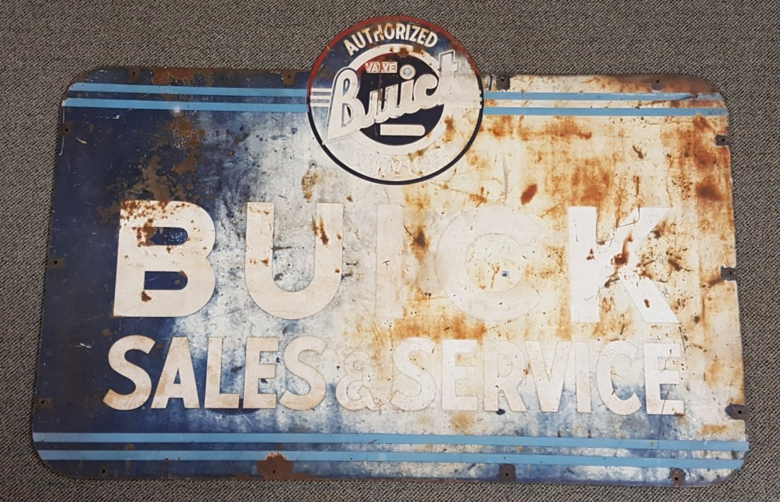 Buick Sales and Service Dealership Sign - 2