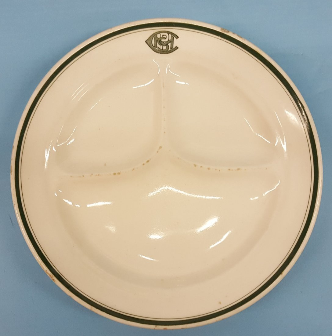 Railroad Divided China Plate