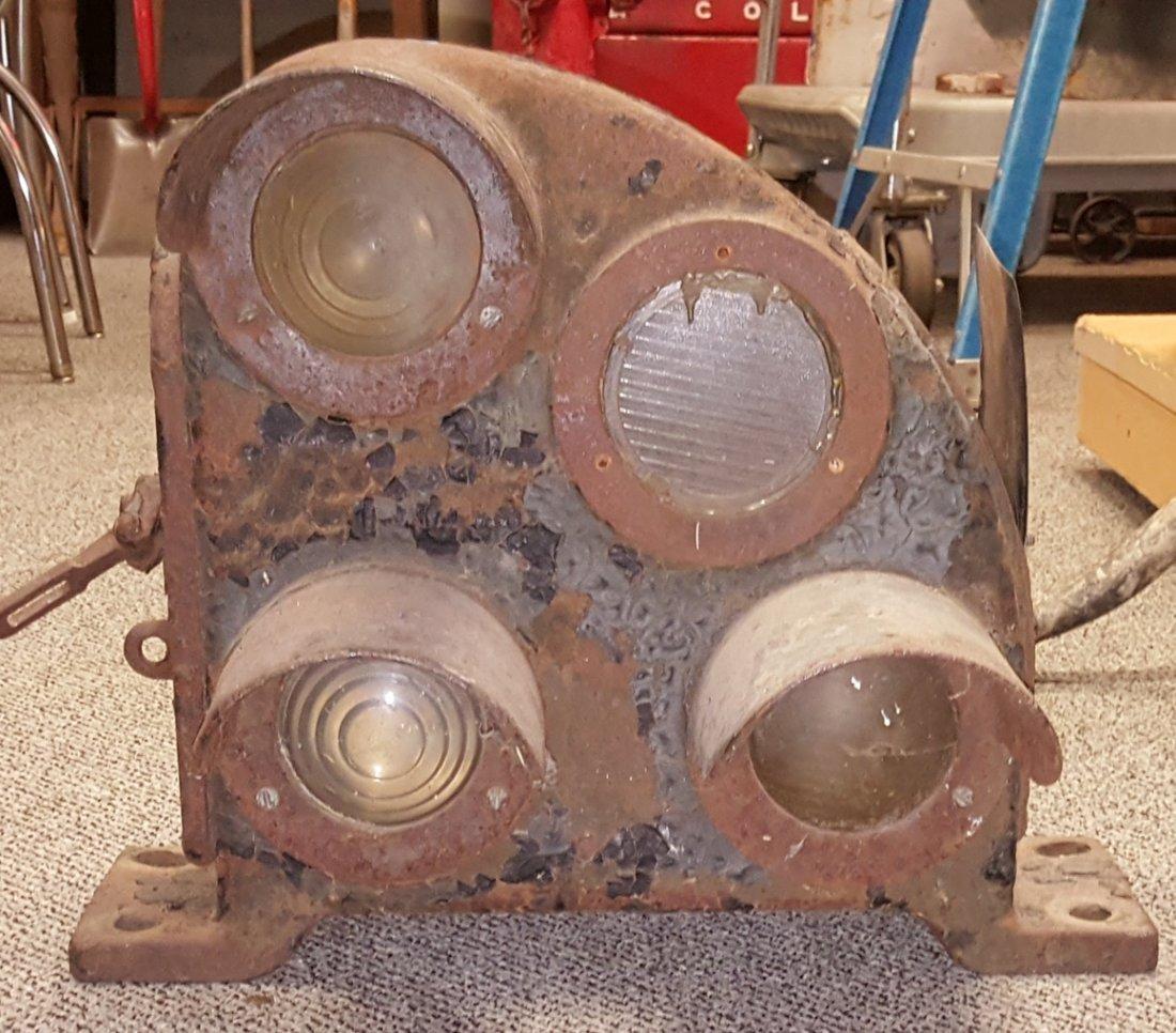 Cast Iron Railway Ground Signal Light