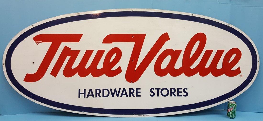 True Value Hardware Store Dealer Tin Sign