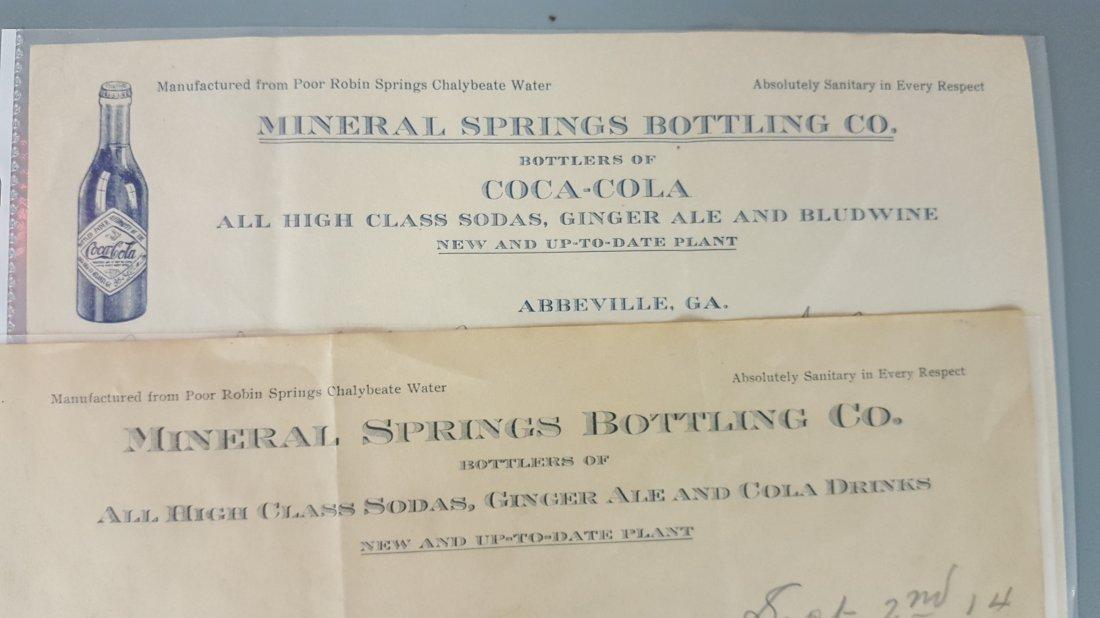 1914 2 Coca Cola Letterheads - 2