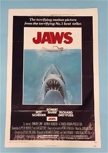 "JAWS (Universal 1975) One Sheet 27"" x 41"""