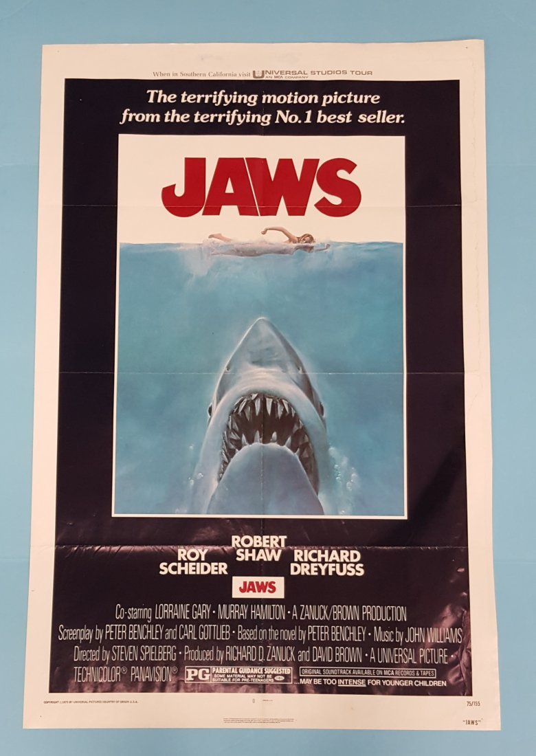 "JAWS (Universal 1975) One Sheet 27"" x 41"""