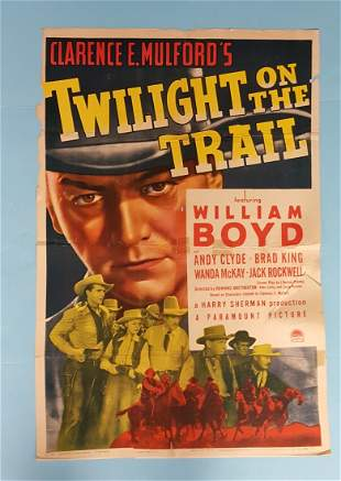 "Twilight on the Trail Paramount 1941 1 Sheet 27"" x 41"""