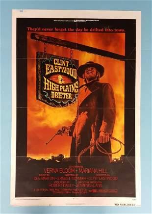 High Plains Drifter 1973 One Sheet movie poster
