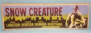 """Snow Creature (1954) 24"""" x 82"""" Movie Banner"""