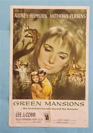 """Green Mansions  (MGM) 1959 One Sheet 27"""" x 41"""""""