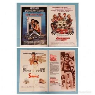 4 poster lot Rough Cut & Cannonball Run