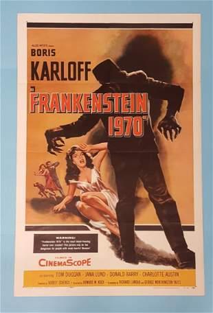 """Frankenstein 1970 (1958) One Sheet 27"""" x 41"""""""