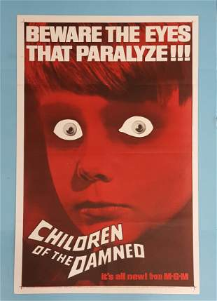 """Children of the Damned 1963  One Sheet 27"""" x 41"""""""