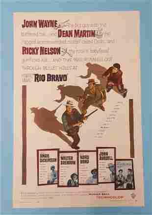"Rio Bravo 1959 One Sheet 27"" x 41"""