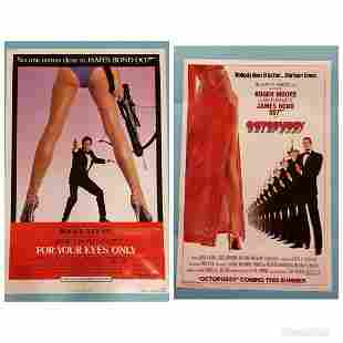 2 Posters, Octopussy 1983 & For Your Eyes Only 1981