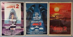 Jaws 2 Teaser 1978 plus 2 Jaws 2 posters 1978 & 1980