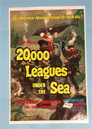 20,000 Leagues Under The Sea R-71 one sheet