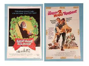 2 poster lot: Silent Night Evil Night/ Incredible 2 Hea
