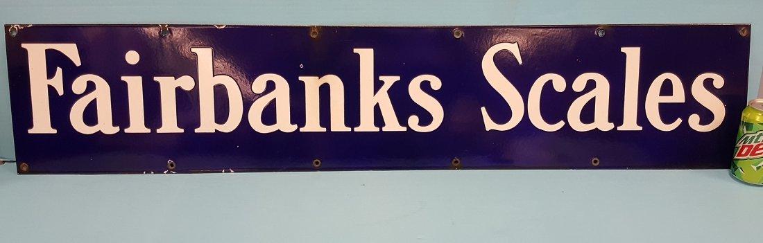 Porcelain Fairbanks Scales Sign