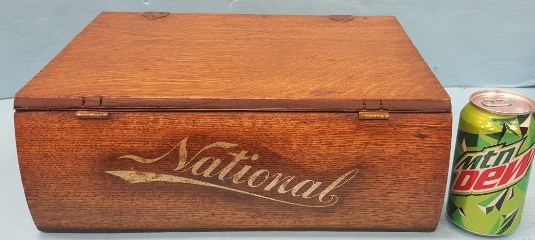 National Cash Register Wood Credit System Box