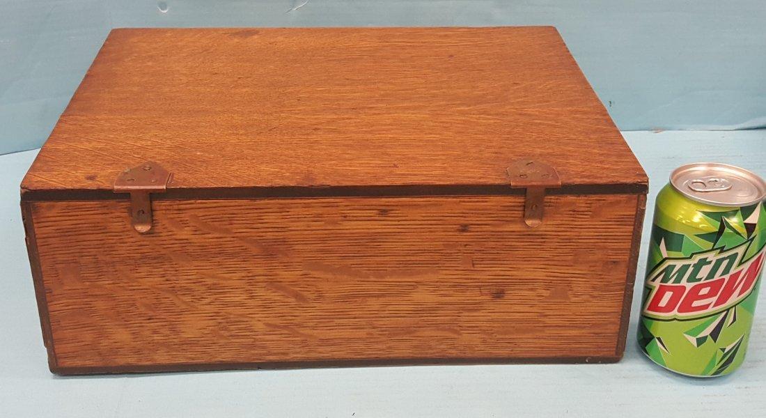 National Cash Register Wood Credit System Box - 2