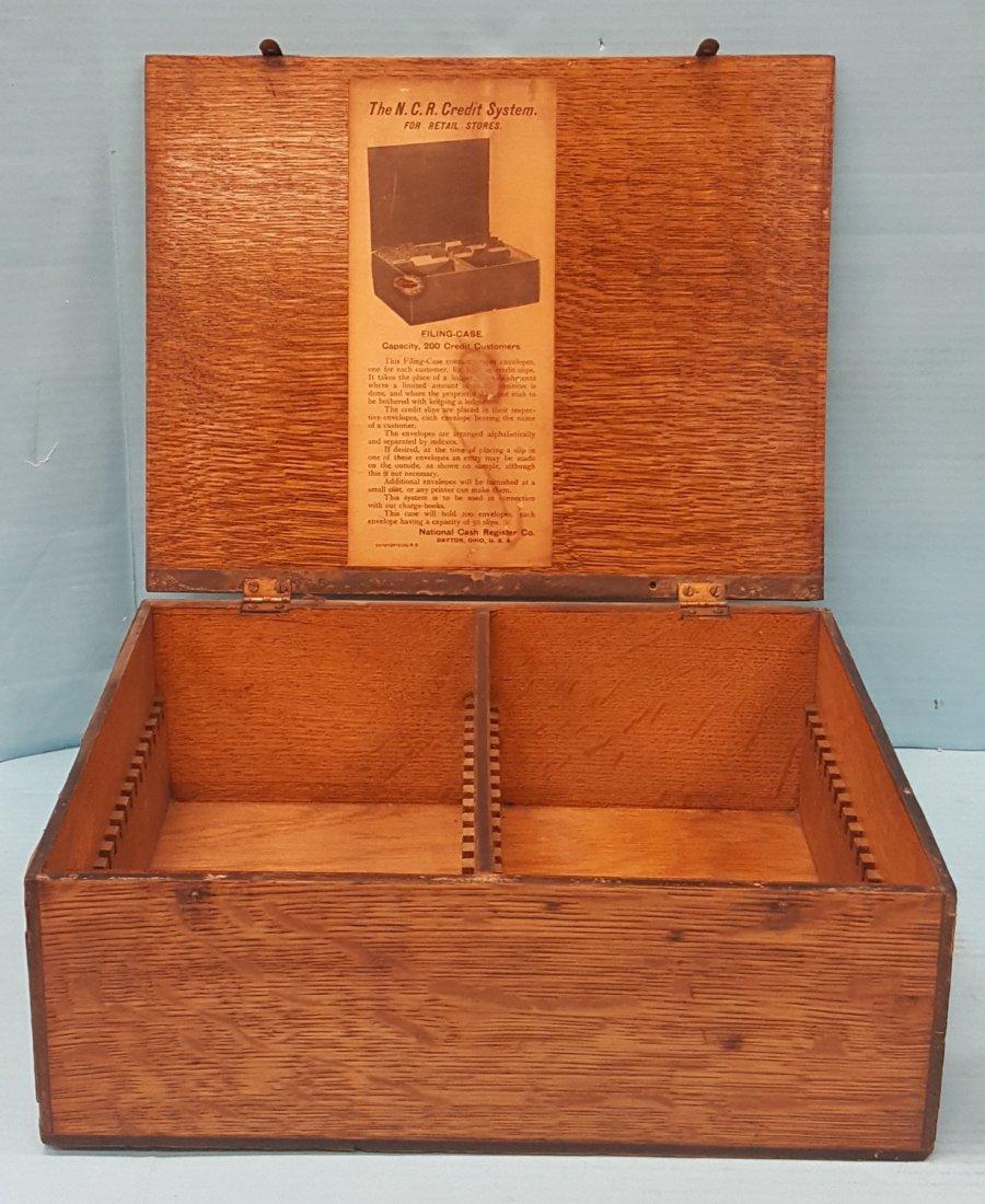 National Cash Register Wood Credit System Box - 3