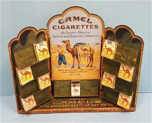 Country Store Counter Metal Camel Cigarette Display